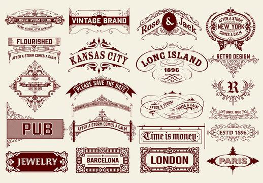 Set of 22 Vintage Logos and Badges