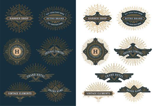 Set of 7 Vintage Logos and Badges