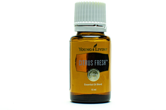 Citrus Fresh Young Living essential oil with white background
