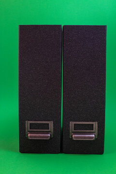 two file folders against green background