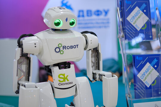 SKOLKOVO robot from FEFU (far Eastern University) at the exhibition Days of the Far East - Moscow, Russia, 12 13 2019