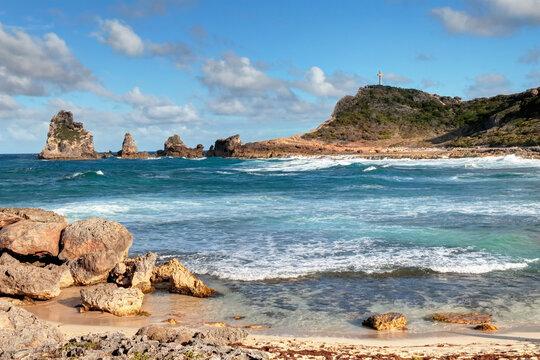 Guadeloupe la pointe des châteaux