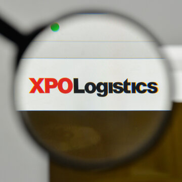 Milan, Italy - November 1, 2017: XPO Logistics logo on the website homepage.
