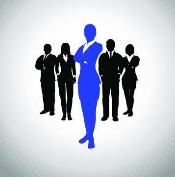 Leader of a successful executive team. A successful executive team led by a great leader.
