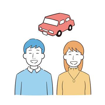 車を購入する夫婦