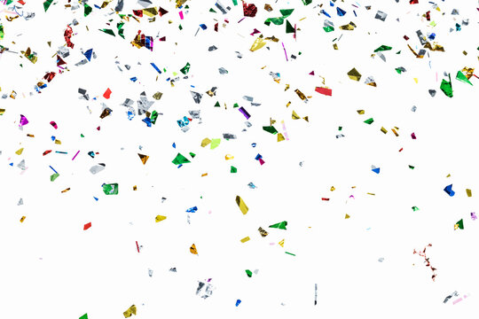 Colorful confetti pattern on a white background wallpaper