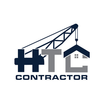 crane building logo designs for contractor and real estate build icon and symbol modern