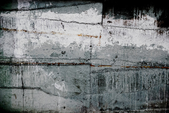 Abstract painting on canvas. Abstract expressionism. Grunge background