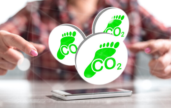 Concept of carbon footprint