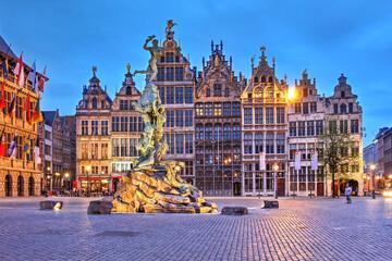Historic houses in Grote Markt, Antwerp, Belgium