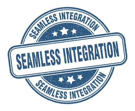 seamless integration stamp. seamless integration label. round grunge sign