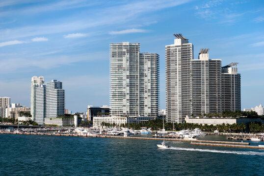 Miami Beach Skyline And Marina