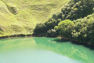 View of karst lake Shadhurei
