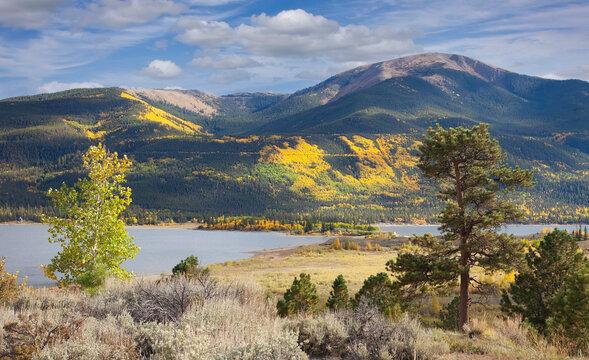 Scenic landscape in autumn in Colorado