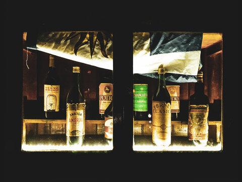 Window Display Bar Beverages