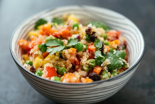 Tropical Quinoa Salad with mango and coconut