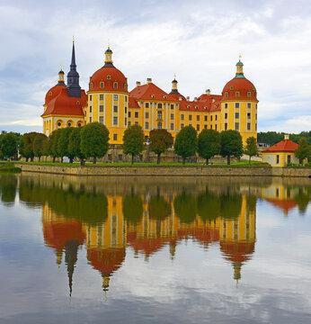 View of Moritzburg Castle in Saxony – Germany.