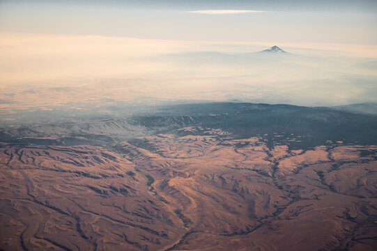 Mount Hood Rising Out of The Wildfire Smoke