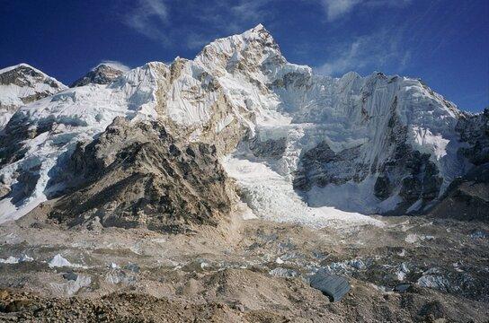 Mount Everest and Mount Nupse Khumbu Himalaya Nepal