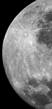 moon with dark black background, phone wallpaper vertical