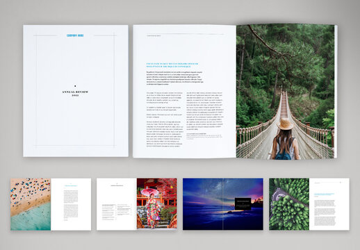 Clean and Modern Annual Review Layout