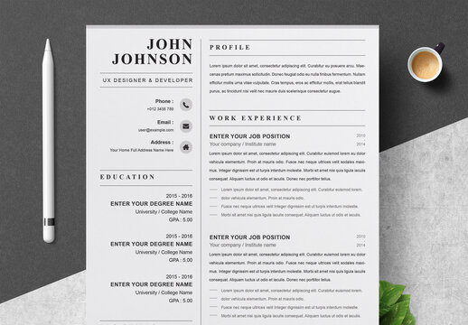 Clean and Professional Resume Layouts