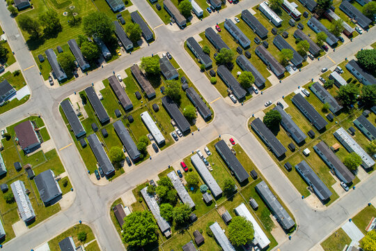 Trailer Park Overhead View.