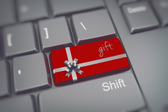 Press the keyboard key to buy a Christmas gift