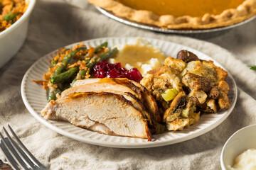 Homemade Thanksgiving Turkey Plate