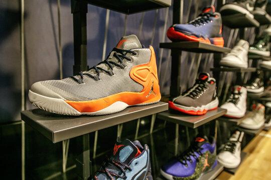 Air Jordan sneakers.