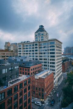 View of DUMBO from the Manhattan Bridge, in Brooklyn, New York City