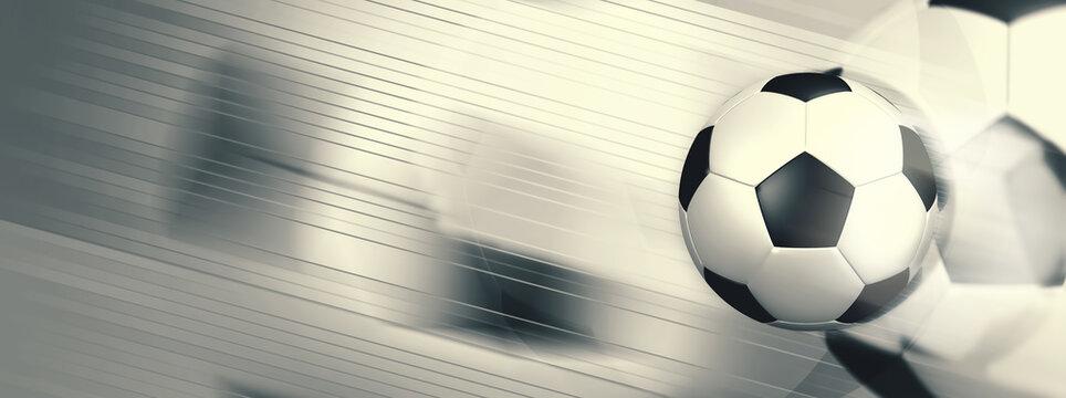 芸術的なサッカーボールのイラスト