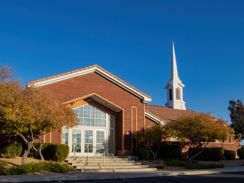 Sunny view of The Church of Jesus Christ of Latter day Saints
