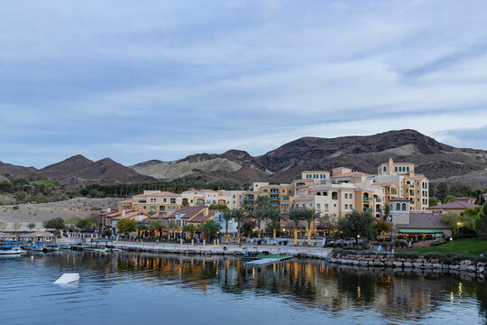 Afternoon view of the Lake Las Vegas area