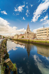 Holy Trinity Church In Cork  on the Father Mathew quay in Ireland.