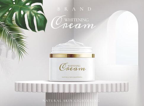 Whitening cream ads poster