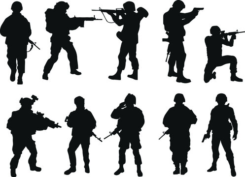 Soldiers silhouettes. US Army.
