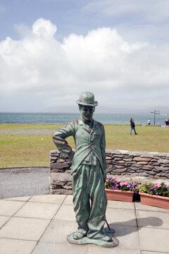 Charlie Chaplin statue in Ireland