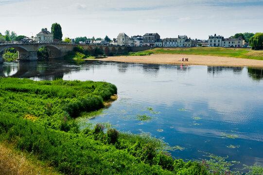 River Vienne, Chinon, Centre Val de Loire, Indre-et-Loire, France