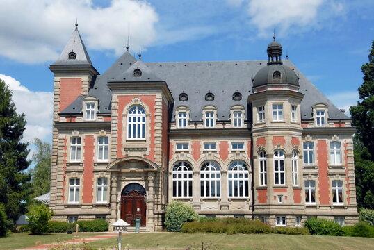 Ville de Sarreguemines, Château de Utzschneider, aujourd'hui Hôtel de la Communauté d'Agglomération, département de la Moselle, département de la Moselle, France