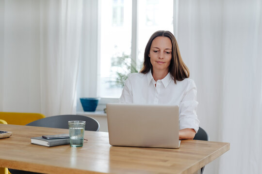 Dedicated businesswoman at work in her office