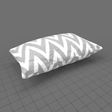 Chevron pattern cushion