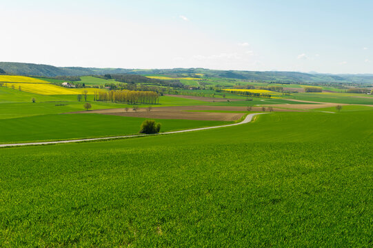 Fields, hamlets and buildings near Charroux, Allier Auvergne France