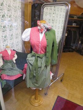 sale and preparation of typical Austrian clothes Vienna