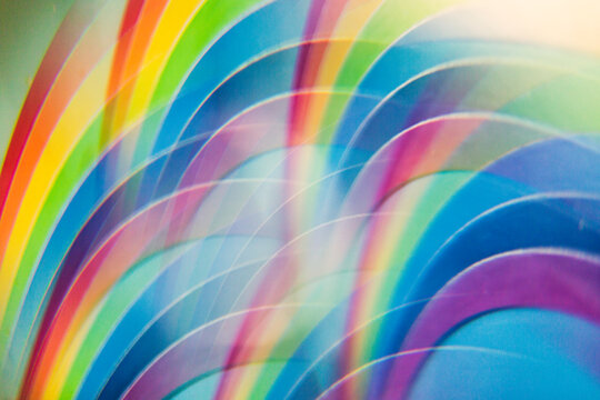 Hand-painted rainbow abstract