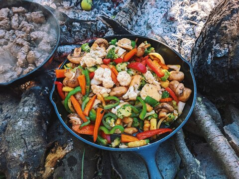 Vegetable Stir Fry Camp Food