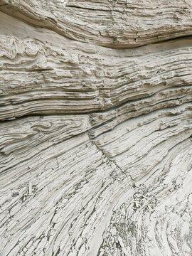 White Quartzose Granitic Rock Layers