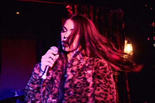 Woman Singing Live