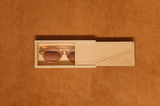 Composition with sunglasses