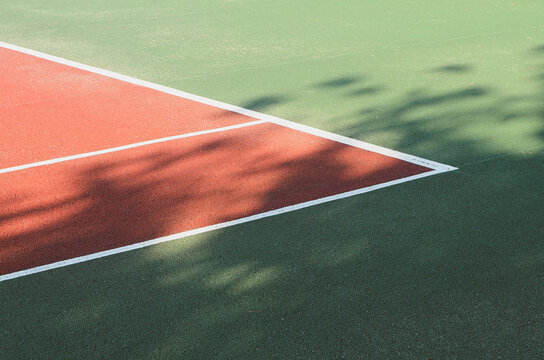 Colored sports court